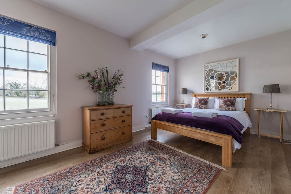 Second bedroom with rural views