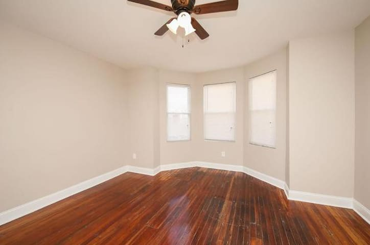 One Large Bedroom in recently renovated row house.