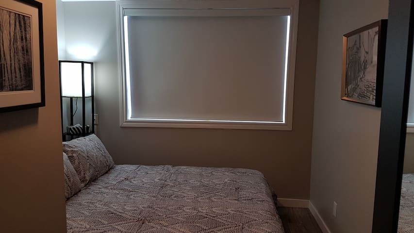 Bedroom # 2 with blind closed