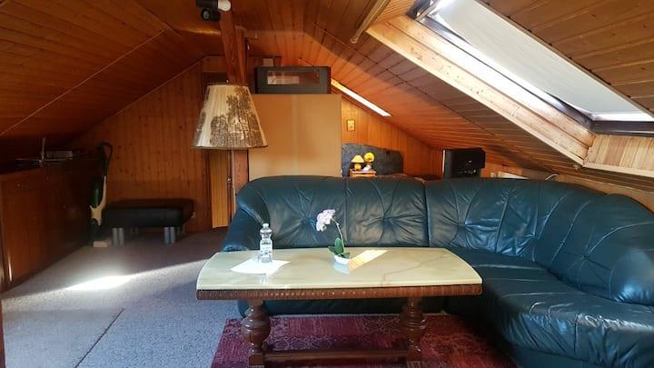 Dachgeschoss Wohnung - Wohnschlafraum