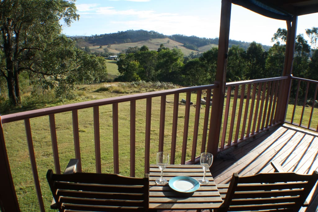 Private verandah with valley views
