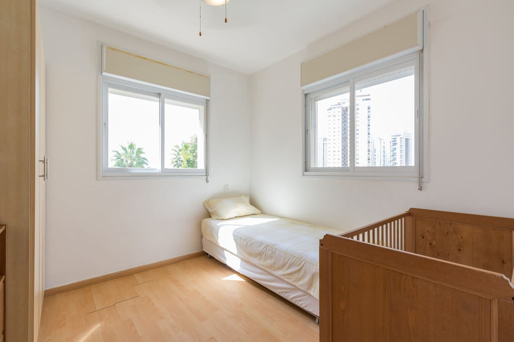 Third bedroom with dresser - can also be set with additional single bed