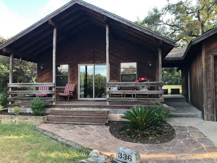 Spicewood Lakeside Log Cabin