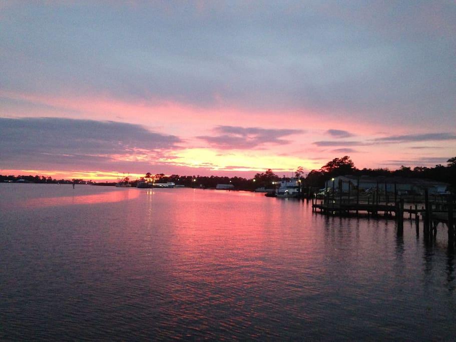Sunset on Bon Secour River