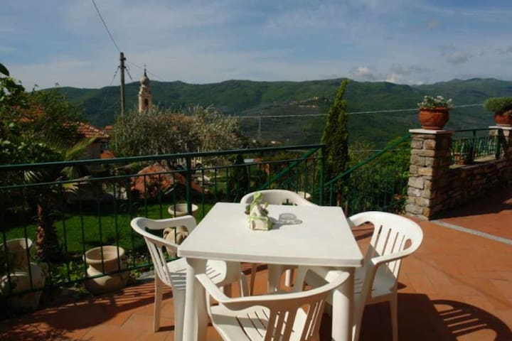 L'Ulivo di Sempre Verde. Quietly located apartment at Torria, an old olive-growing mountain village