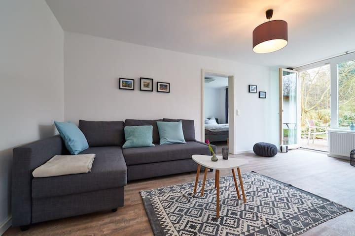 Moderne Wohnung mit Terrasse und Garten - Lüneburg - Apartment