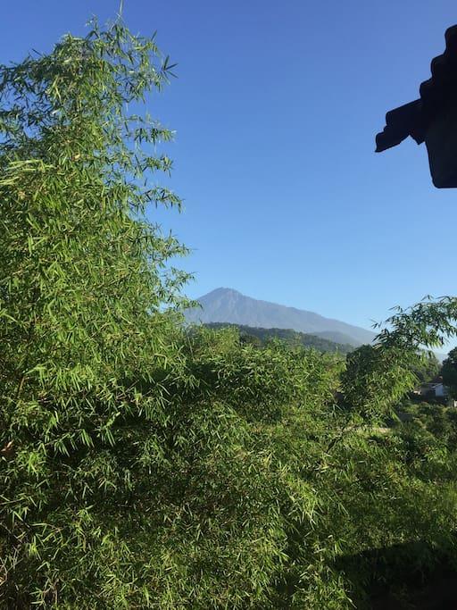 Back Balcony view of Mt. Meru.