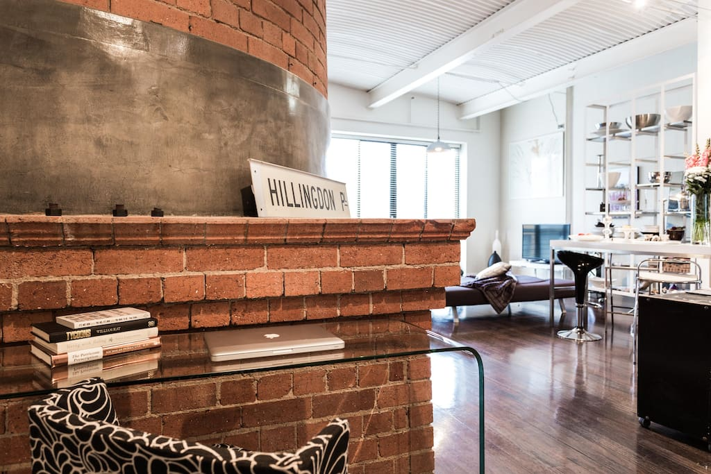 Your writing space against the Historical Baking Chimney -