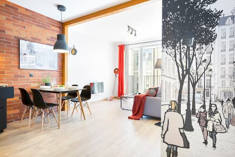 Ugodan stan u centru s Netflixom i balkonom
