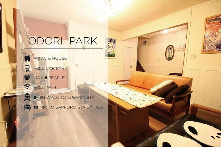 Detached house of renovation 2bed rooms in Sapporo