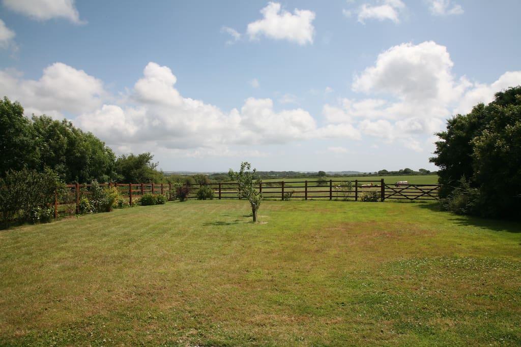 The cottage garden from Foxglove patio