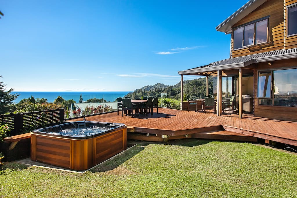 Expansive deck perfect for fun and entertainment