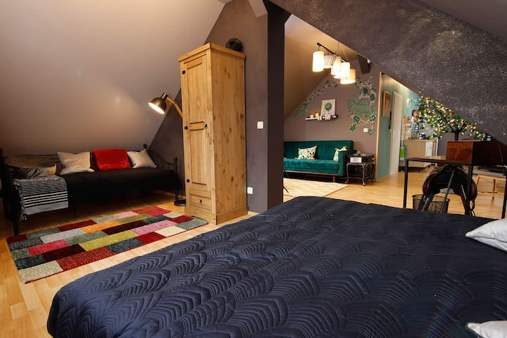 Einzelbett und Doppelbett
