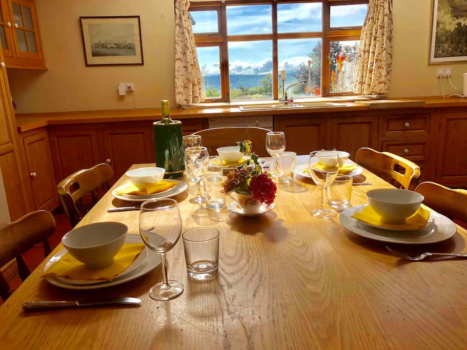 Kitchen with great views of the Suir Valley.