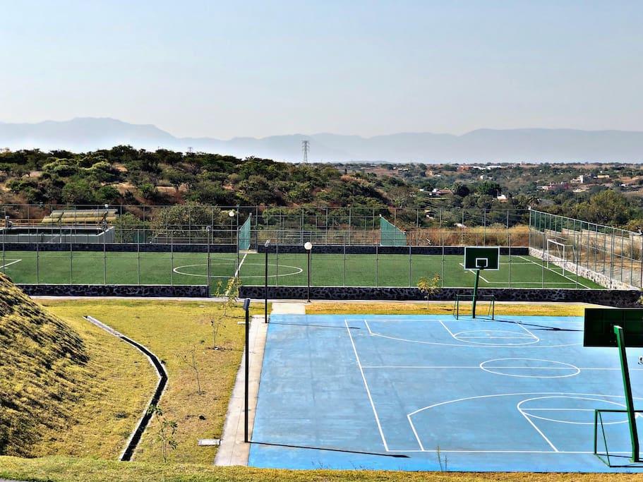 Canchas de Basket, Fútbol y Tenis