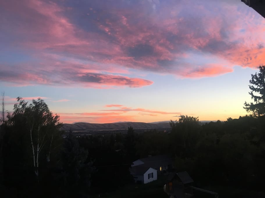 Amazing sunsets just from our deck!