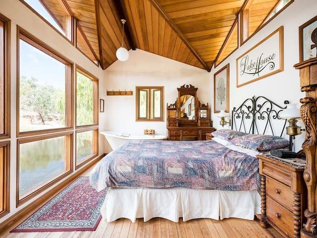 Main bedroom in lake house