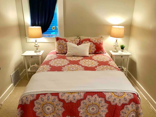Relax in this queen bed