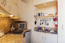 Kitchen towards sink