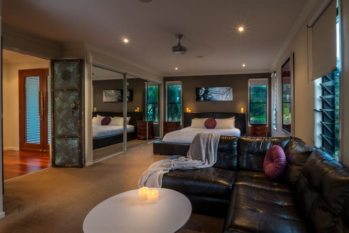 Extra Large Main Bedroom With Own Lounge and Ensuite with Spa.