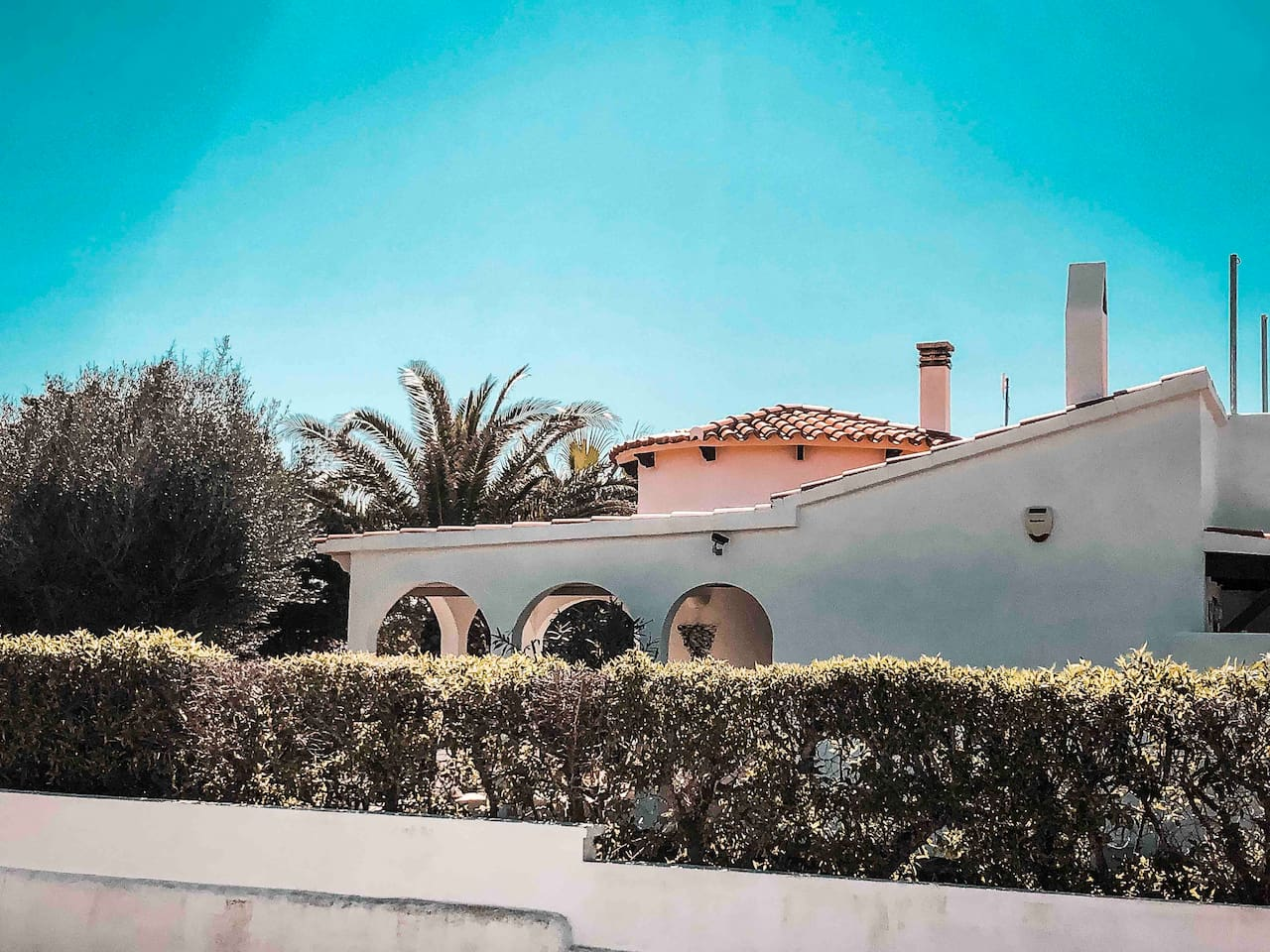 Beautiful House under Palm- and Olivetrees with Seaview from the Rooftop Terrace, Private Garden and Community Pool
