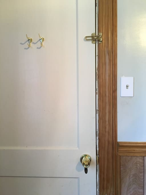 Two privacy locks; doorknob locks with a key on other side