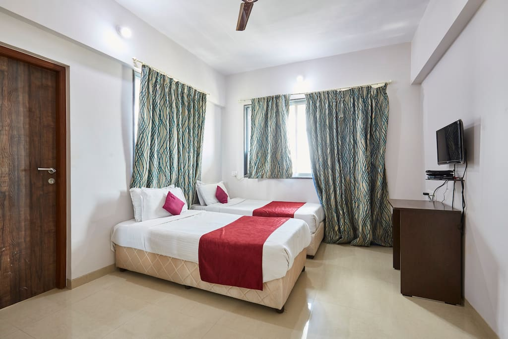 Room 1 - with two twin beds (these can be joined to have a double bed)