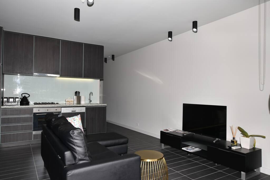 Modern open plan living room!