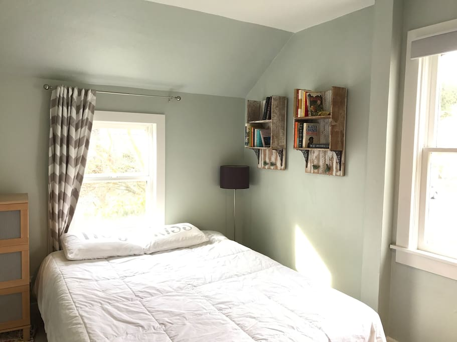 Light and bright upstairs bedroom