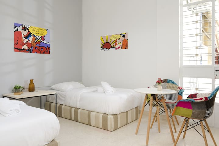 Bedroom 2, 2 Single Beds that Can be Joined into 1 King-Size Bed