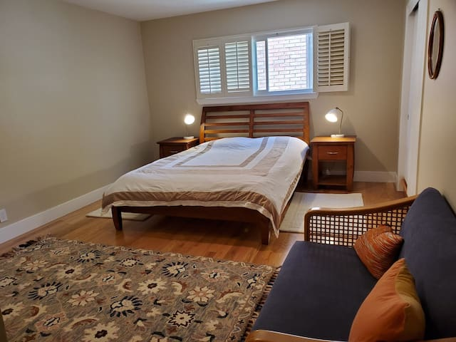 Beautifully renovated quiet spacious bedroom suite