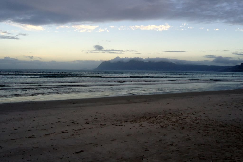 Capricorn beach, 3 minutes walk from the cottage.