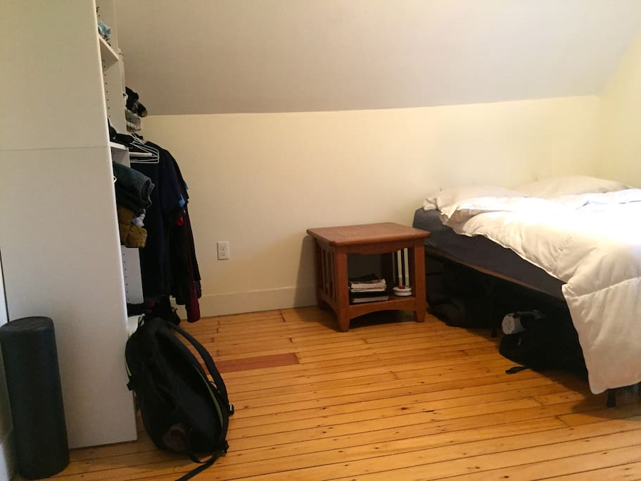 Closet on the left side