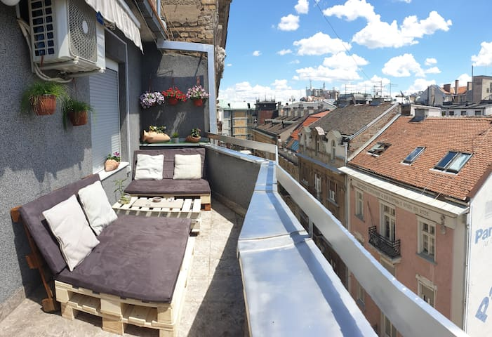 50 sqm Penthouse with a Terrace in a city center