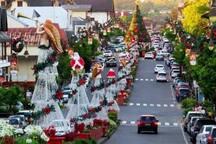 A rua do apartamento no Natal Luz!