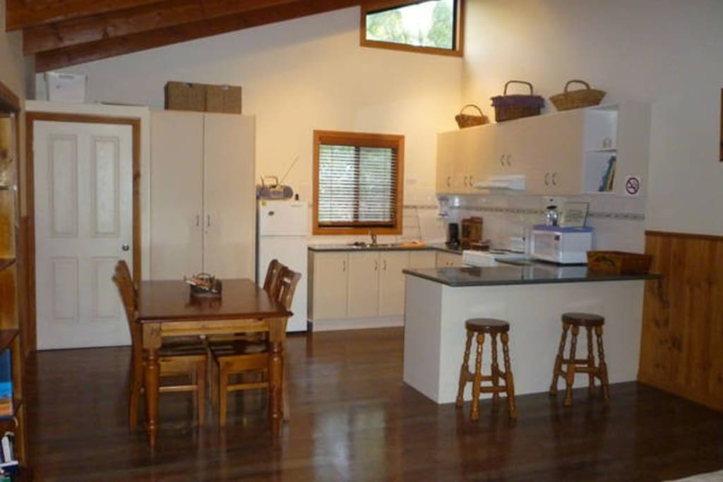 Fully self contained kitchen and laundry