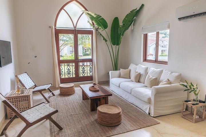 Luxury Tropical Pool Villa - Siolim Door