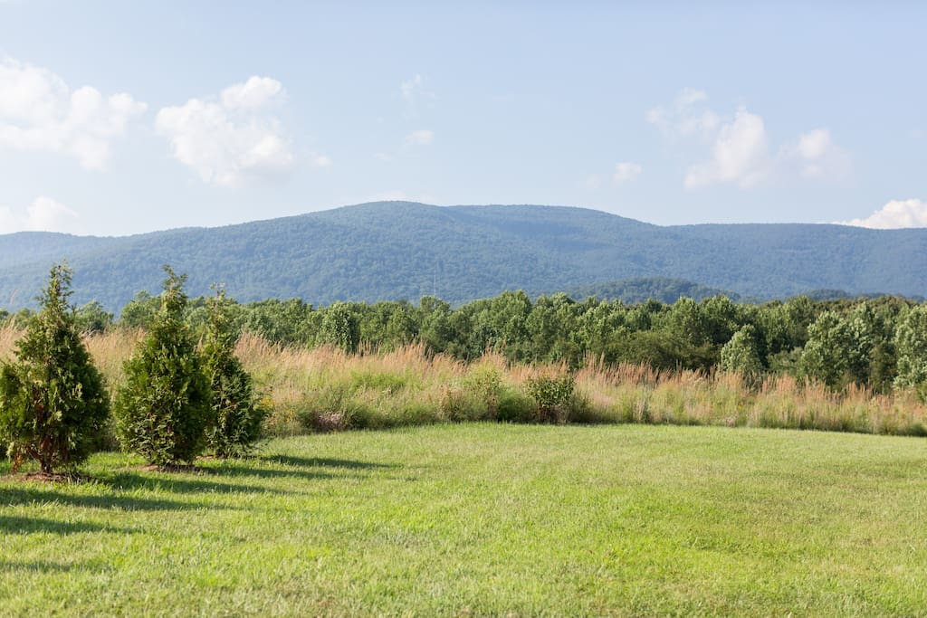 View from the porch of the Shenandoah mountain range to the north