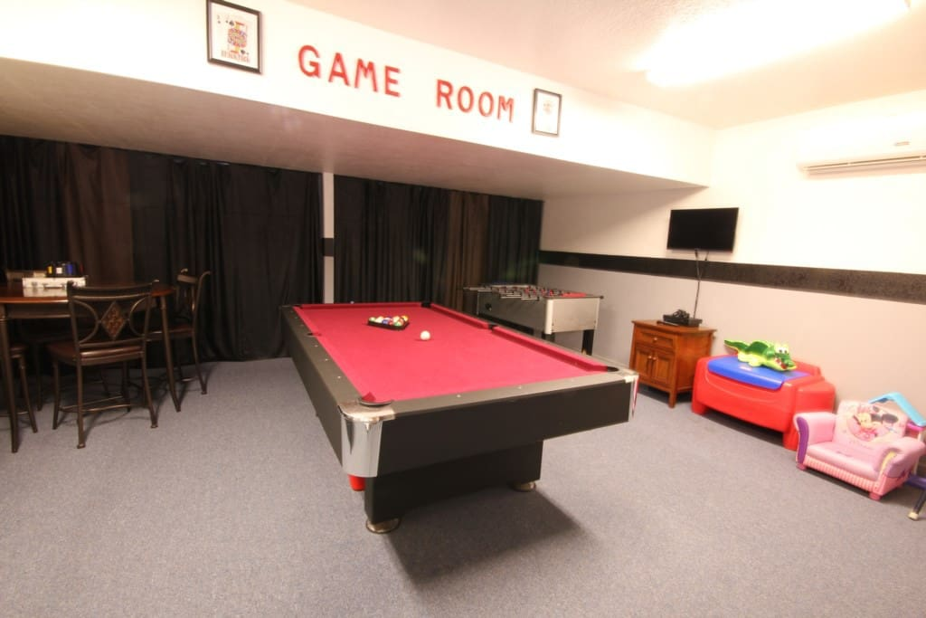 Shoot some pool or challenge your friends to a game