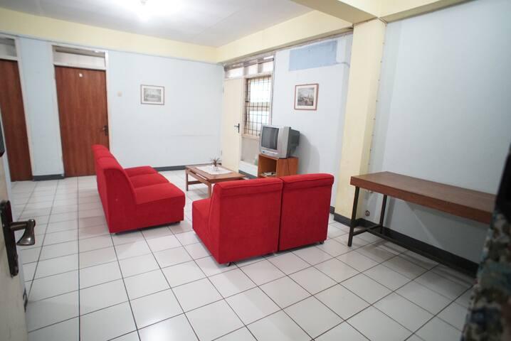 Apartment style on 1st floor
