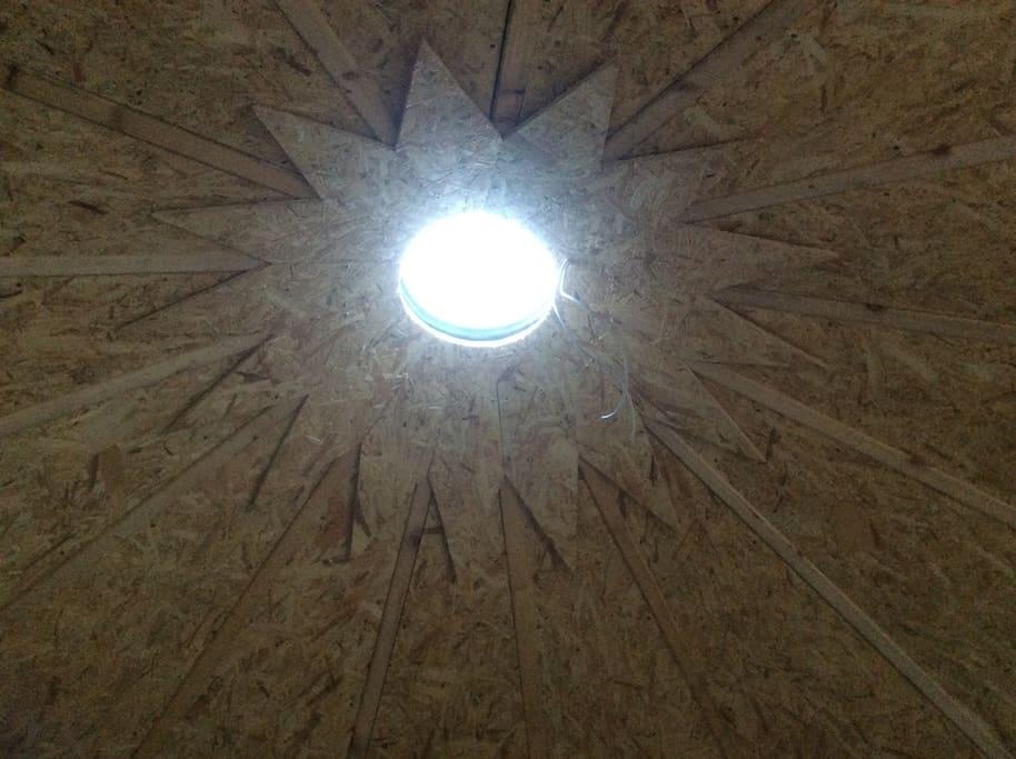Awake to Phils amazing ceiling.