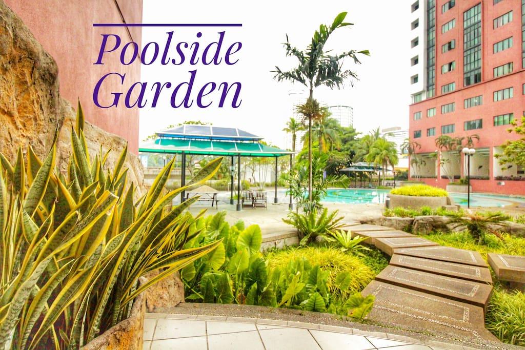 Poolside Garden - greenery in the city!