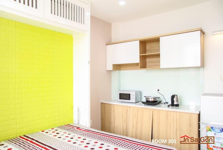 Studio Apartment  - 10mins to Center 801