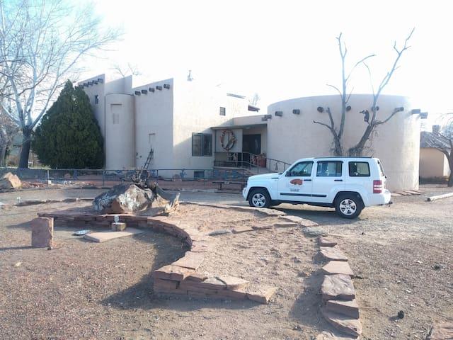 Red Pueblo House