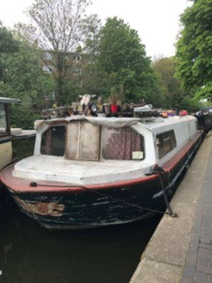 Beautiful boat on regency canal