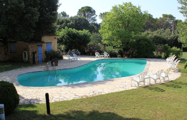 Les Messugues, Mas in Provence with shared pool, nature, calm, space