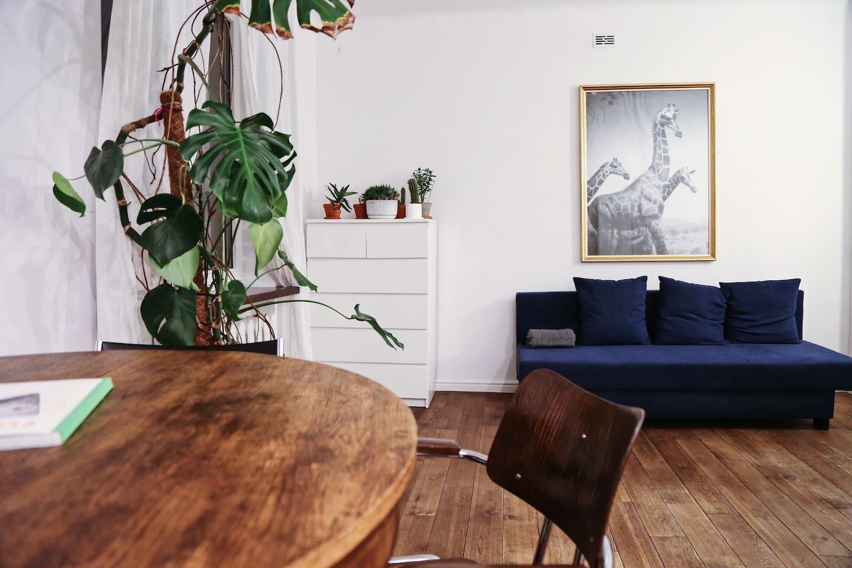Część dzienna mieszkania / Main part of the apartment