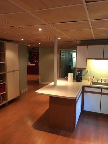 Park-like, private apartment