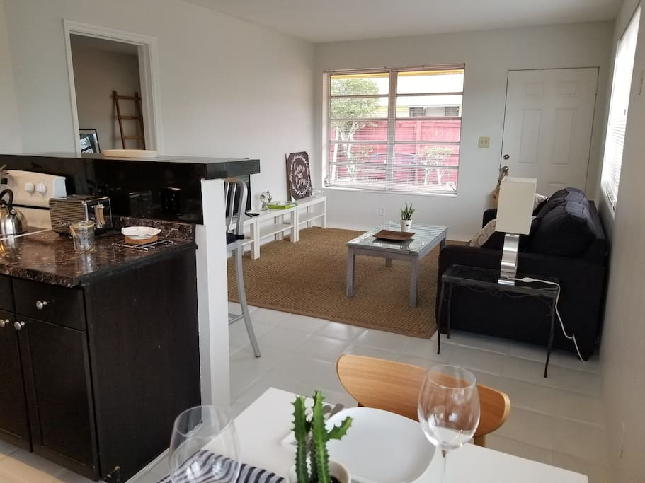 Living/dining and open kitchen
