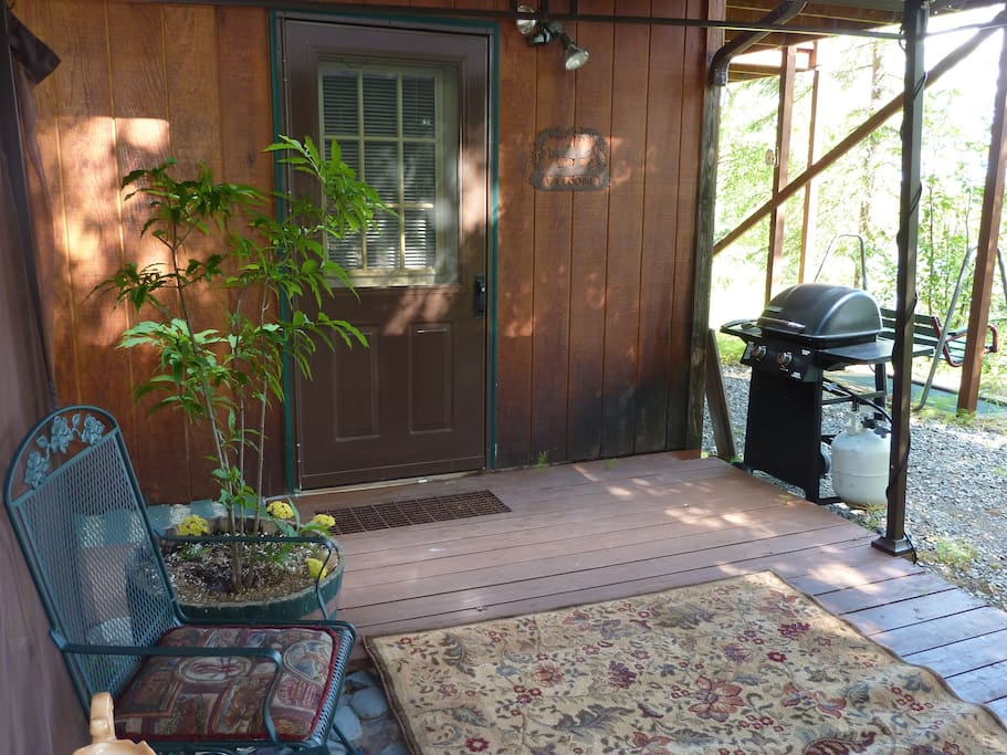 Private entrance and covered gazebo